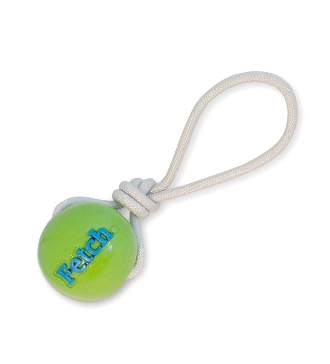 PLANET DOG ORBEE TUFF FETCH BALL WITH ROPE Green